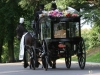 Black Horse Drawn Hearse